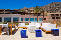 Recreation area at luxury hotel Royalty Free Stock Images