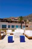 Recreation area at luxury hotel Stock Photo