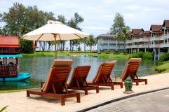 Recreation area of luxury hotel Stock Photos