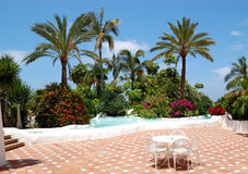 Recreation area of luxury hotel Stock Photography