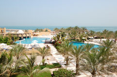 Recreation area of luxury hotel Stock Photo