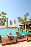 Recreation area at luxury hotel in Dubai downtown Stock Photo