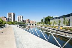 Recreation area in Madrid, Spain Royalty Free Stock Image