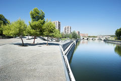 Recreation area in Madrid, Spain Stock Images