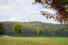 Lake Levico Termen, Italy. stock photography