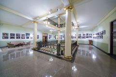 Recreation area with paintings on the walls Stock Images