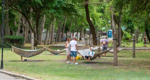 The recreation area in a seaside park Burgas, Bulgaria Stock Photos