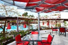 Recreation area for shisha smoking in popular hotel Stock Photography
