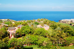 Recreation area with villas of luxury hotel Stock Images