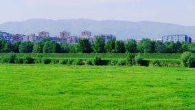 Recreation area in Zagreb stock footage