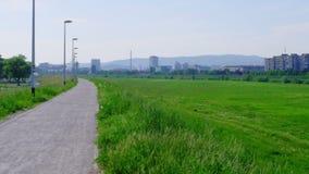 Recreation area in Zagreb,capital of Croatia, on Royalty Free Stock Photos