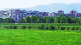 Recreation area in Zagreb,capital of Croatia, on stock video