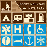 Recreation and camping signs Royalty Free Stock Photos