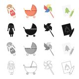 Recreation, care, entertainment and other web icon in cartoon style.Attributes, accessories, facilities, icons in set Stock Photos