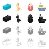 Recreation care games. Recreation care games and other  icon in cartoon style.Water flag entertainment icons in set collection Royalty Free Stock Photos