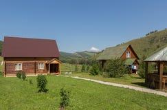 Recreation center health-improving center maral breeding farm Kaimskoye is located on the territory of the Altai krai. Kaimskoye, Russia - July 18, 2015 Stock Photo