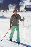 Recreation in cross-country skiing Stock Photo