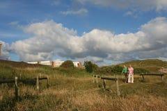 Recreation in the dunes; recreatie in de duinen royalty free stock photography