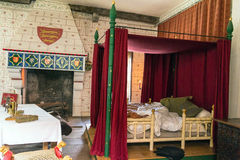 Recreation of Edward I's bedchamber in St Thomas's Tower. Tower of London. UK Royalty Free Stock Images