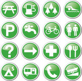Recreation green icons Stock Photo