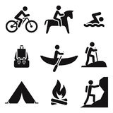 Recreation icons Royalty Free Stock Photography