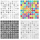 100 recreation icons set vector variant. 100 recreation icons set vector in 4 variant for any web design isolated on white Stock Photography