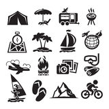 Recreation Icons. Vector illustration Stock Photo