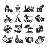 Recreation Icons. Vector illustration Stock Photography