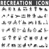 Recreation icons. On a white background with a shadow stock illustration