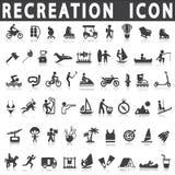 Recreation icons Stock Illustration