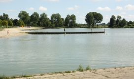 Recreation lake in Groningen Royalty Free Stock Photo