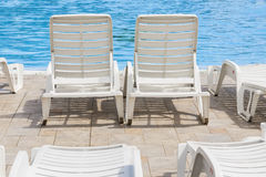 Recreation and leisure on the pool. stock image