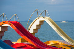Recreation and leisure on the water. Royalty Free Stock Photography