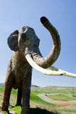 Recreation of a Mammoth. In Ambrona, Guadalajara, Spain. Taken with Canon EOS 400D and processed with Adobe Photoshop CS5 Royalty Free Stock Images
