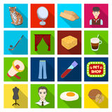 Recreation, medicine, industry and other web icon in flat style. Recreation, medicine, industry and other  icon in flat style. picnic, nature, sports, icons in Royalty Free Stock Images