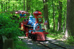 Recreation Miniature Train in Park Stock Image