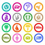 Recreation, Vacation & Travel, icons set. Sport icons set, vector illustration Stock Photo