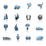 Recreation, Vacation & Travel, icons set. Stock Photography