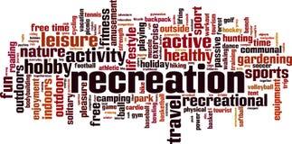 Recreation word cloud