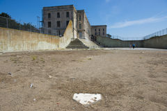 The Recreation Yard at Alcatraz Prison Stock Photography