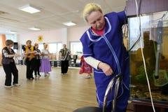 Recreational activities for seniors Stock Photos