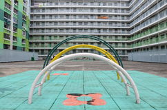 Recreational Area of Nam Shan Public Housing Estate in Hong Kong Stock Photos