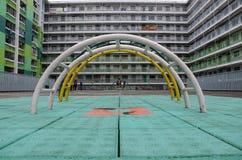 Recreational Area of Nam Shan Public Housing Estate in Hong Kong Royalty Free Stock Image