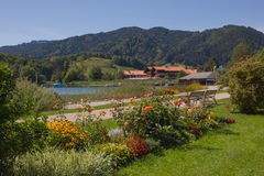 Recreational area spa gardens schliersee Royalty Free Stock Photo