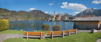 Recreational area spa town rottach-egern at lake tegernsee Stock Photography