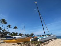 Recreational boats on the beach Stock Image