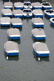 Recreational boats in a row Stock Photo
