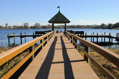 Recreational Deck on the Lake Stock Image