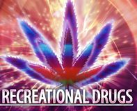 Recreational drugs Abstract concept digital illustration Royalty Free Stock Photography