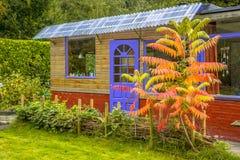 Recreational garden guest house stock image